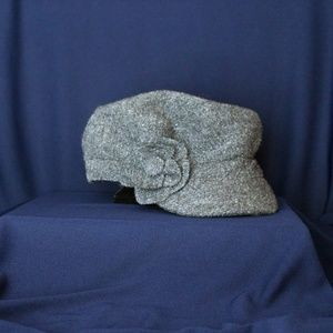 Gray Newsboy Hat by August